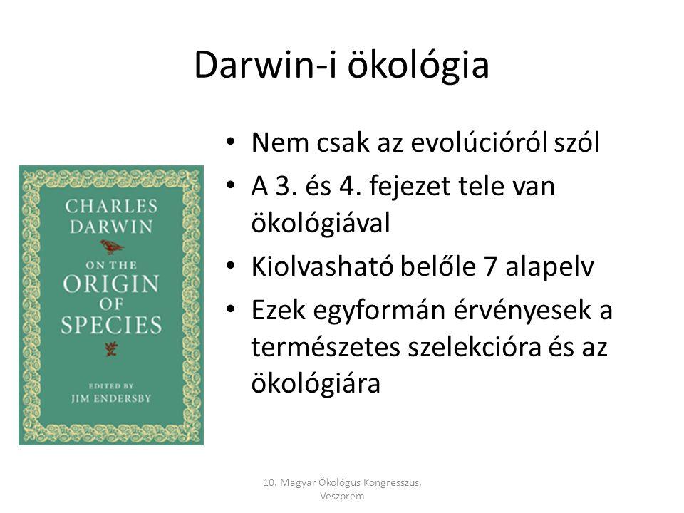 Darwin-i ökológia Nem csak az evolúcióról szól A 3.