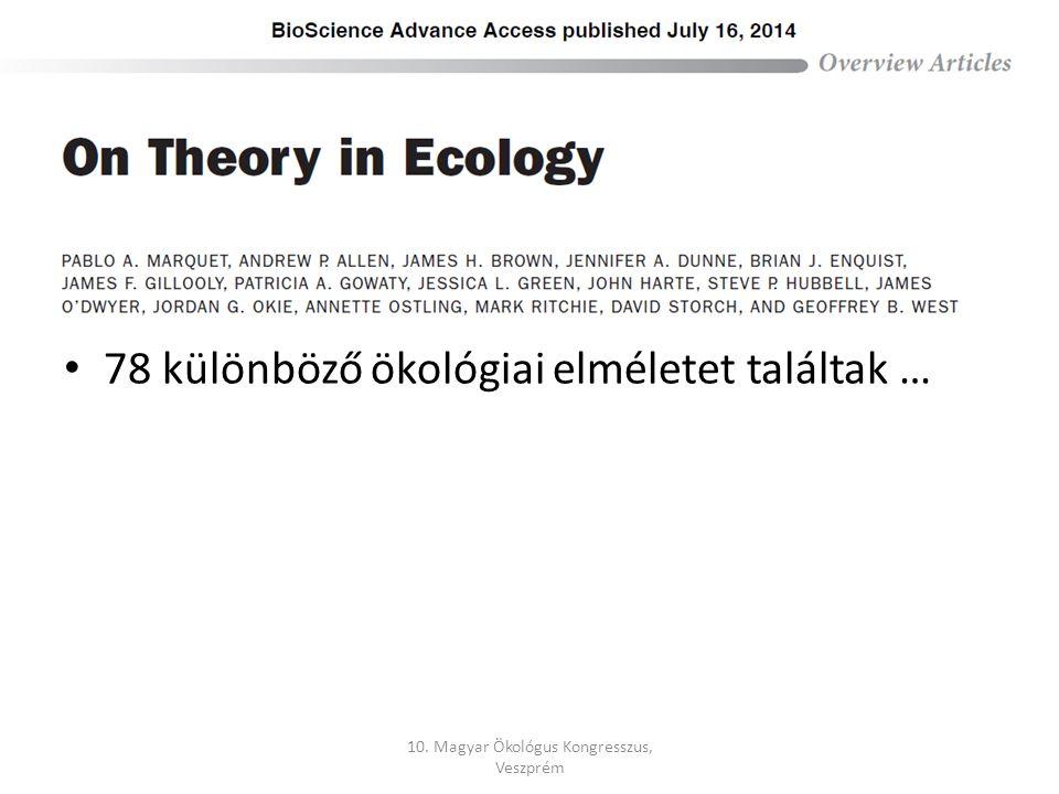 78 különböző ökológiai elméletet találtak …