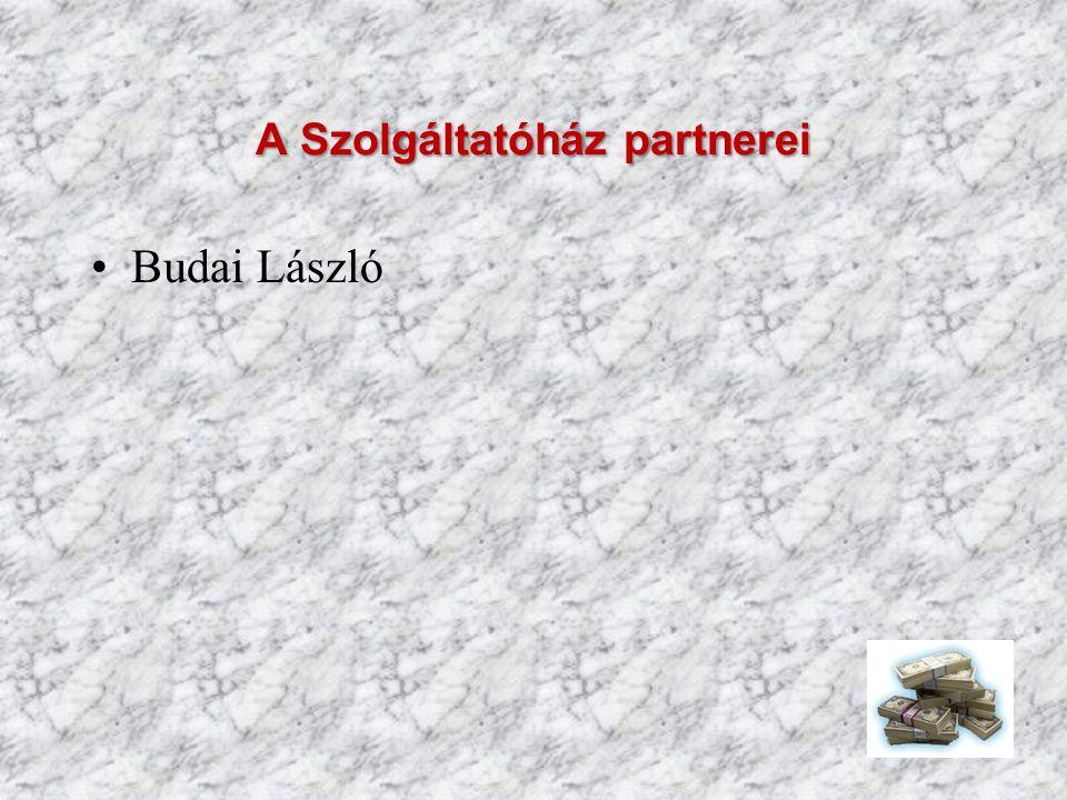 A Szolgáltatóház partnerei Budai László
