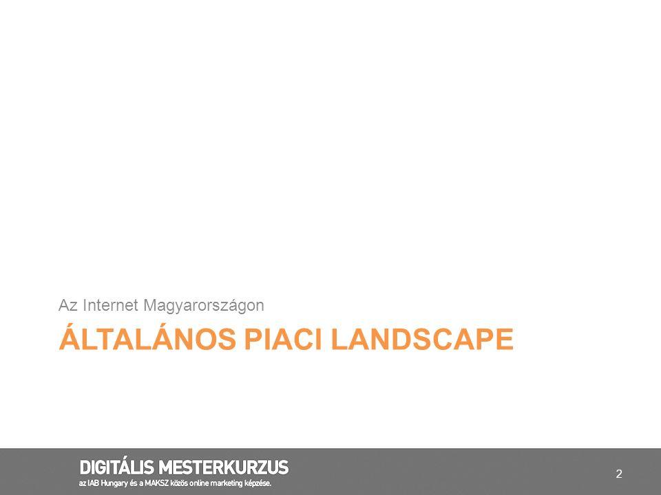 2 ÁLTALÁNOS PIACI LANDSCAPE Az Internet Magyarországon