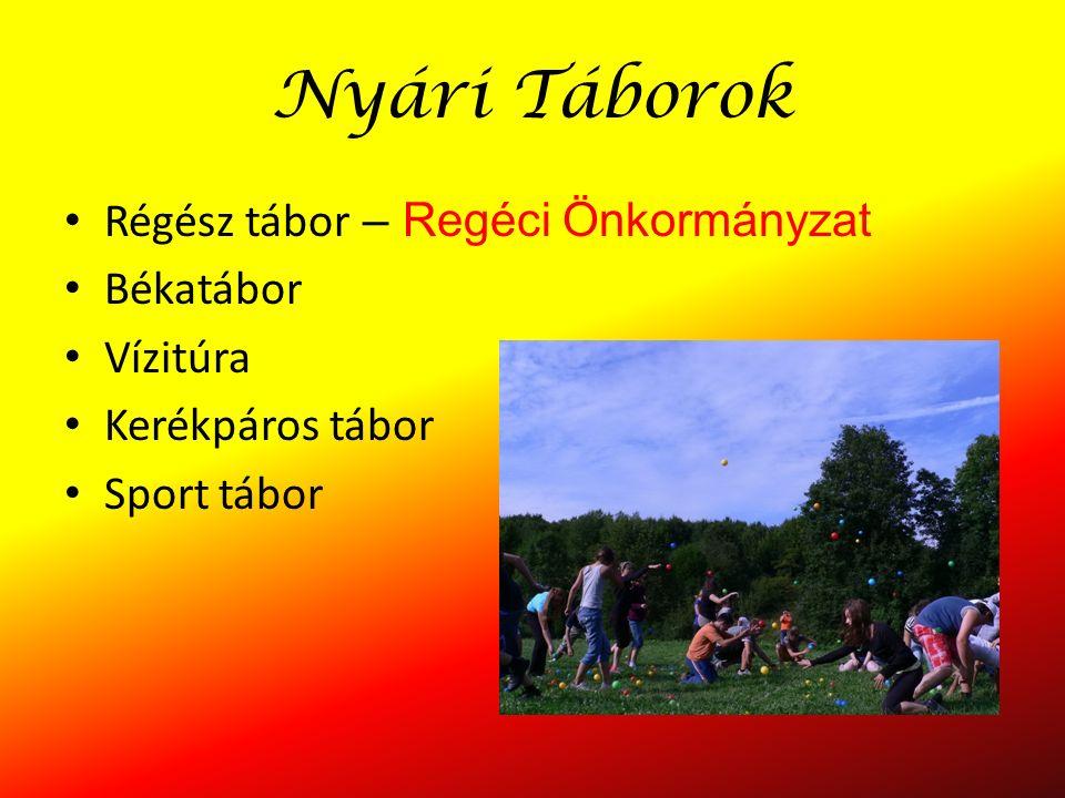 Nyári Táborok Régész tábor – Regéci Önkormányzat Békatábor Vízitúra Kerékpáros tábor Sport tábor