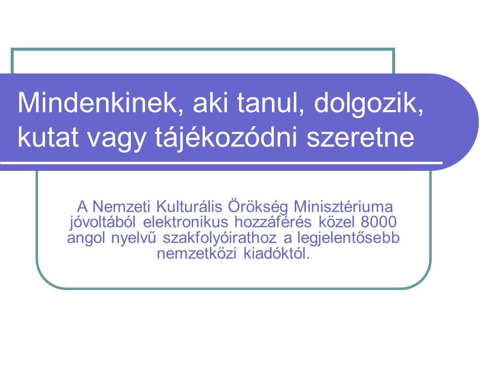 MEDLINE Az orvosi könyvtárak számára MEDLINE nevű bibliográfiai adatbázisát is bevonta a szolgáltatott adatbázisok közé.
