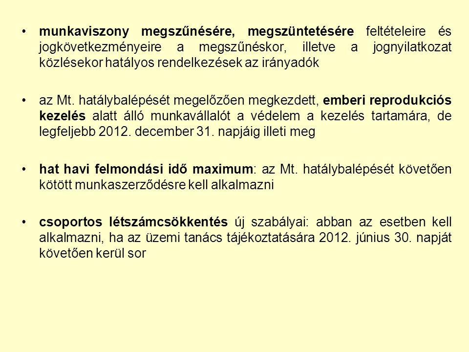 Munkaidő, pihenőidő új szabályai: 2012.június 30.