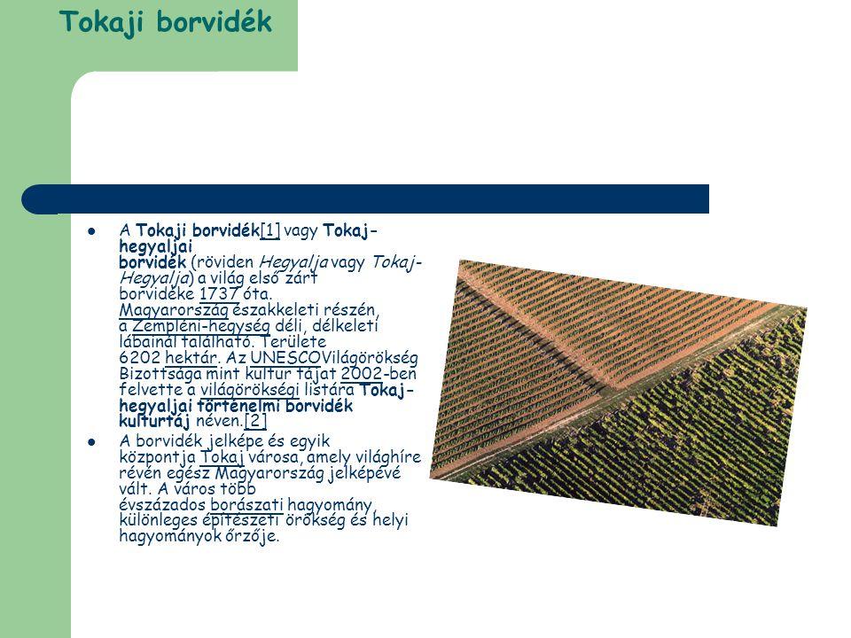 Tokaji borvidék A Tokaji borvidék[1] vagy Tokaj- hegyaljai borvidék (röviden Hegyalja vagy Tokaj- Hegyalja) a világ első zárt borvidéke 1737 óta.