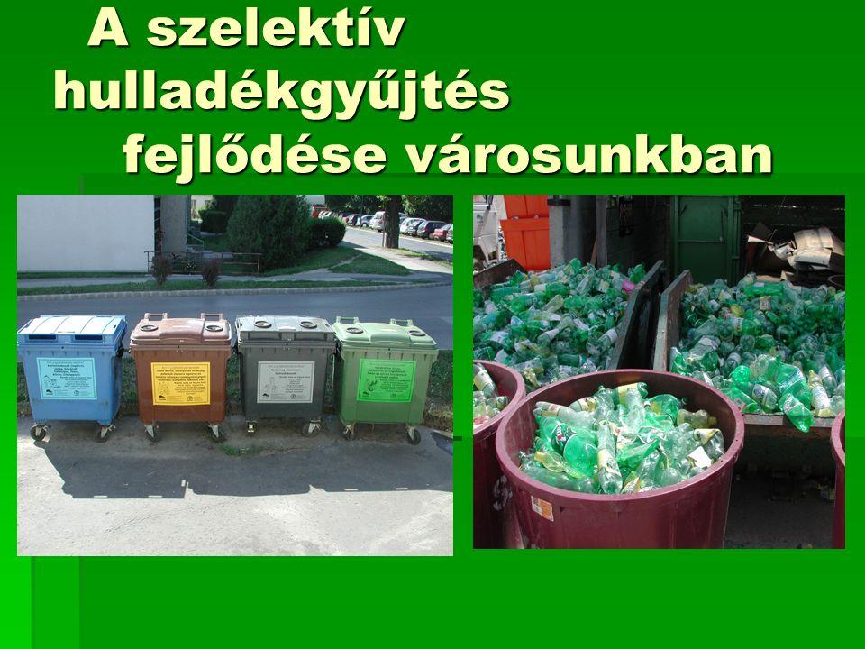 A szelektív hulladékgyűjtés fejlődése városunkban A szelektív hulladékgyűjtés fejlődése városunkban