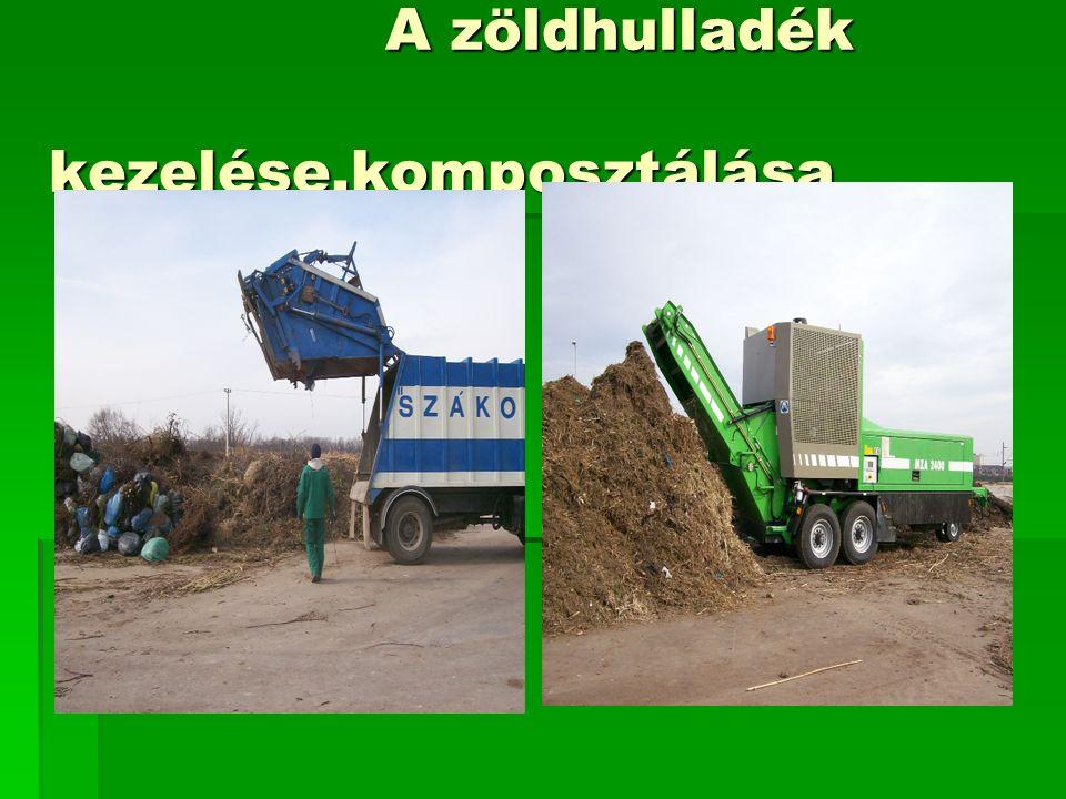 A zöldhulladék kezelése,komposztálása A zöldhulladék kezelése,komposztálása