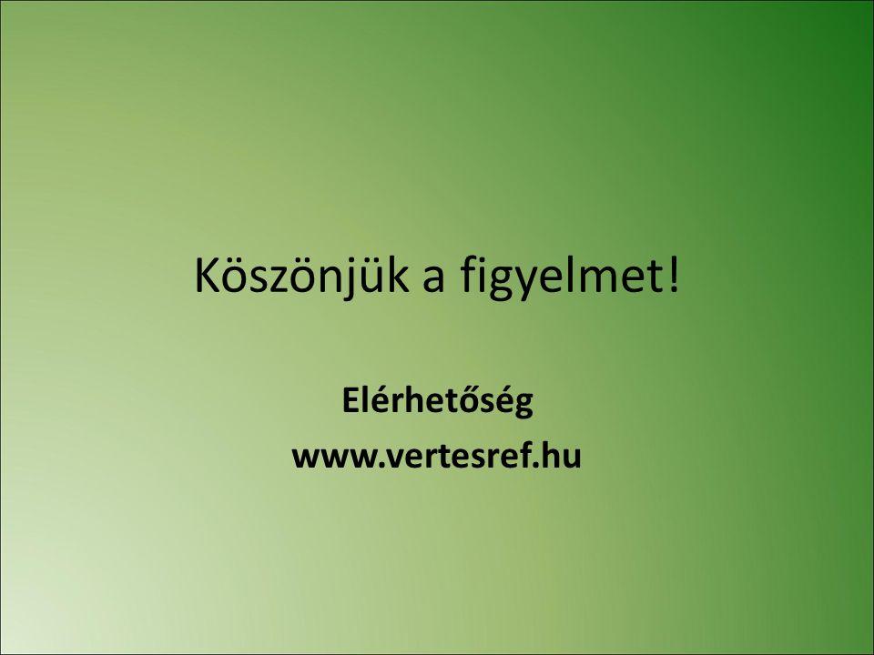Köszönjük a figyelmet! Elérhetőség www.vertesref.hu