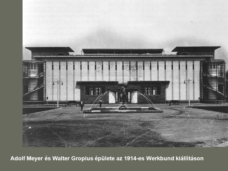 Adolf Meyer és Walter Gropius épülete az 1914-es Werkbund kiállításon