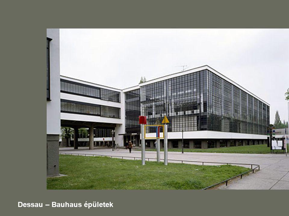 Dessau – Bauhaus épületek