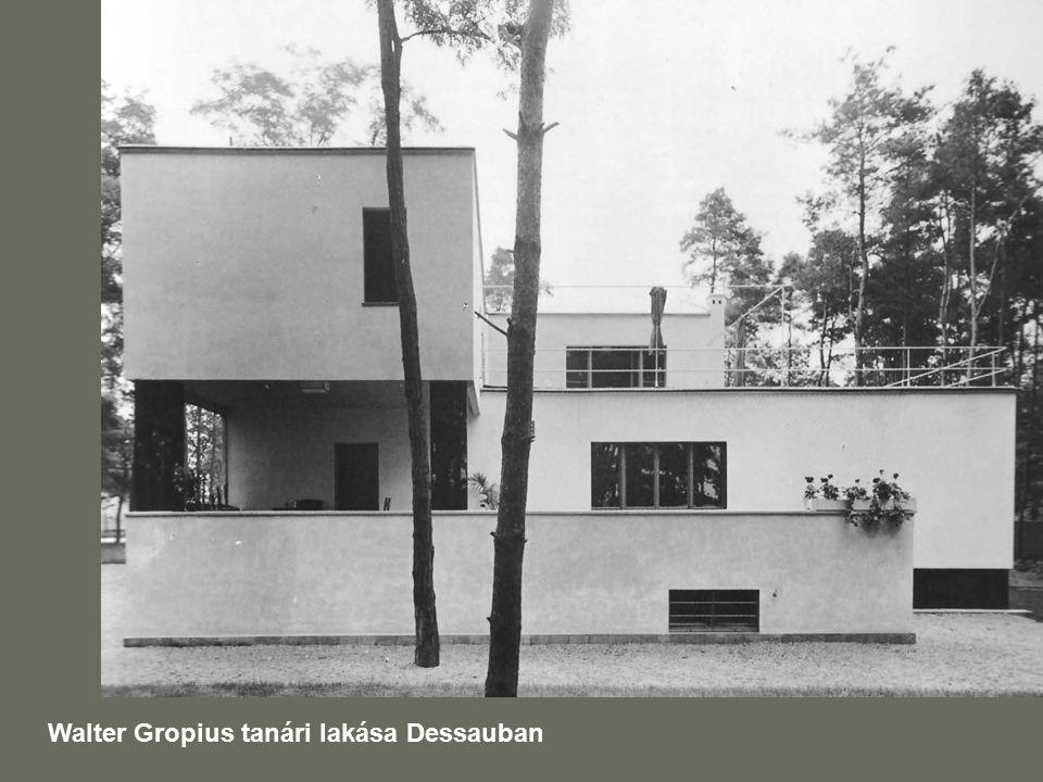 Walter Gropius tanári lakása Dessauban