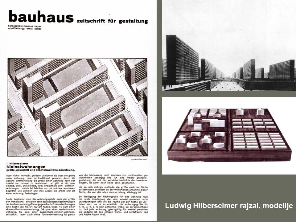 Ludwig Hilberseimer rajzai, modellje