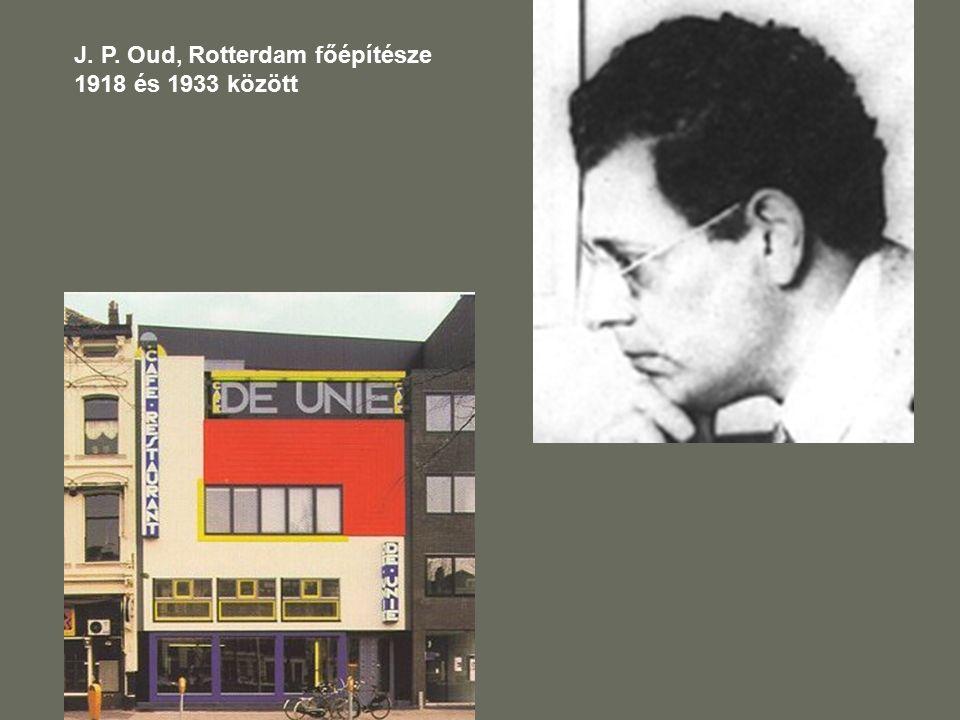 J. P. Oud, Rotterdam főépítésze 1918 és 1933 között