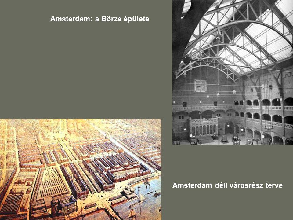 Amsterdam: a Börze épülete Amsterdam déli városrész terve