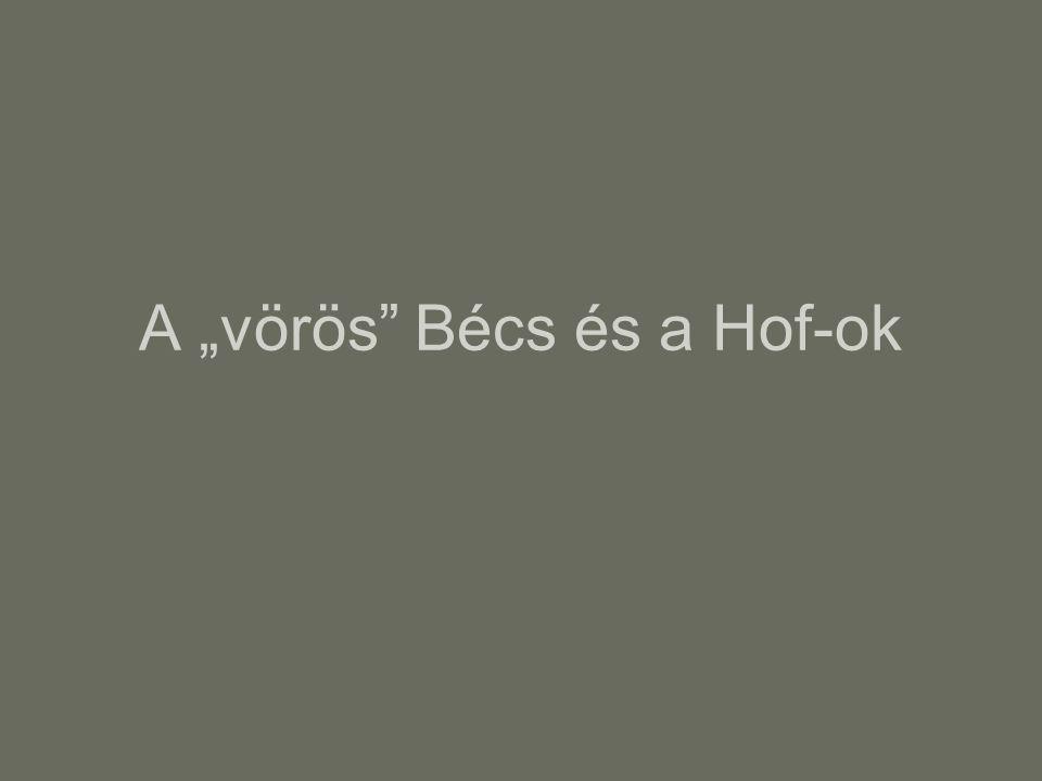 """A """"vörös"""" Bécs és a Hof-ok"""