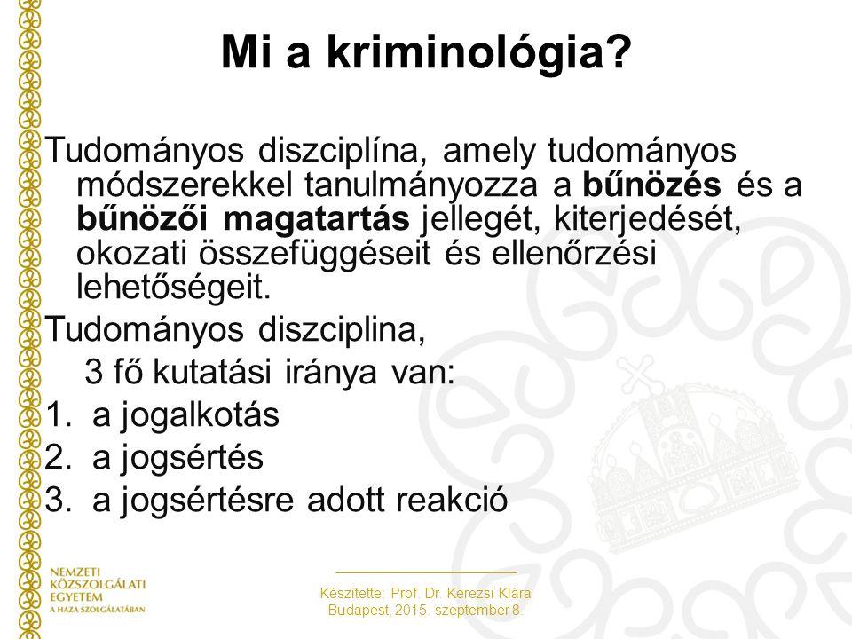Mi a kriminológia.