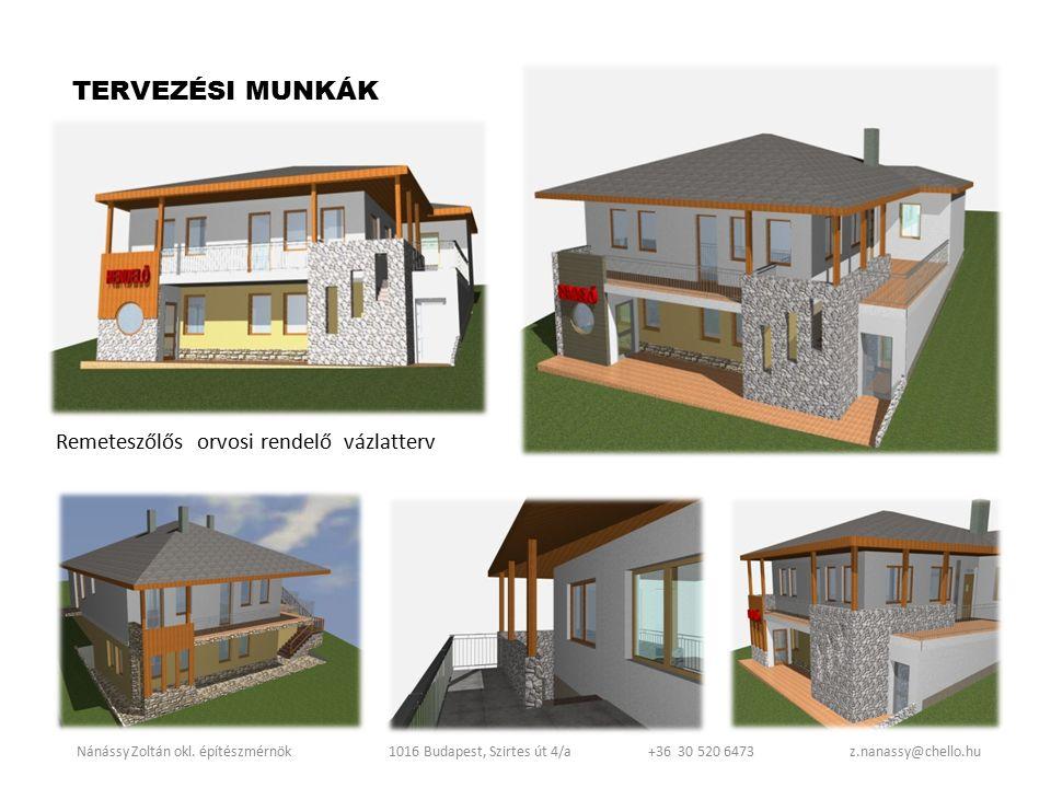 Mogyoród tetőtér-beépítés engedélyezési terv Nánássy Zoltán okl.