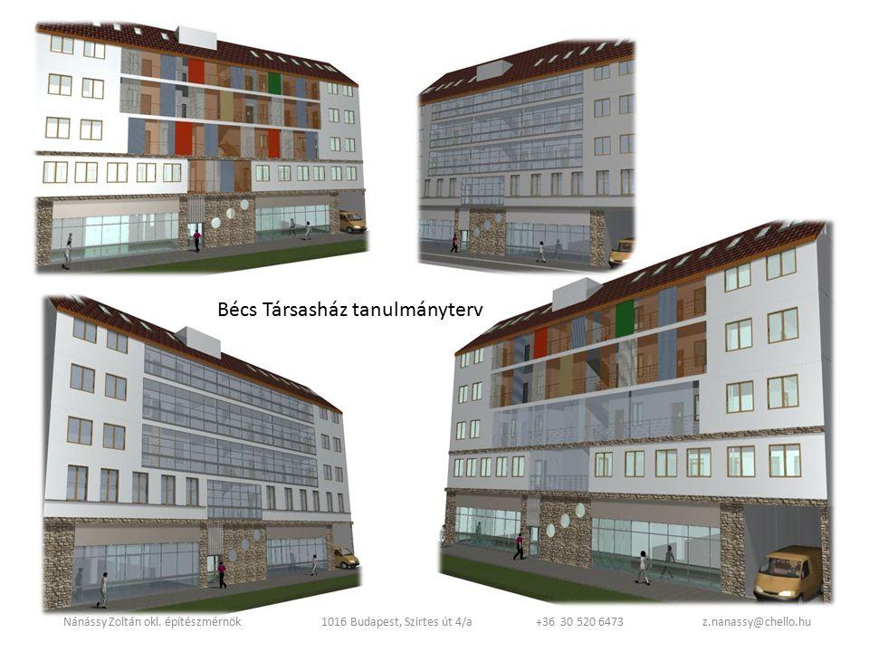 Bécs családi ház átépítés Nánássy Zoltán okl.
