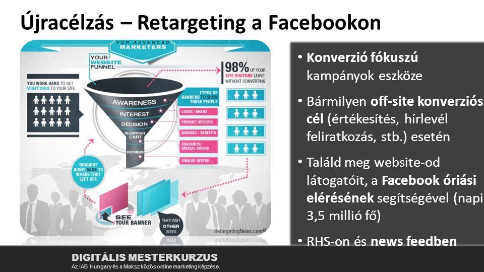 Újracélzás – Retargeting a Facebookon DIGITÁLIS MESTERKURZUS Az IAB Hungary és a Maksz közös online marketing képzése.