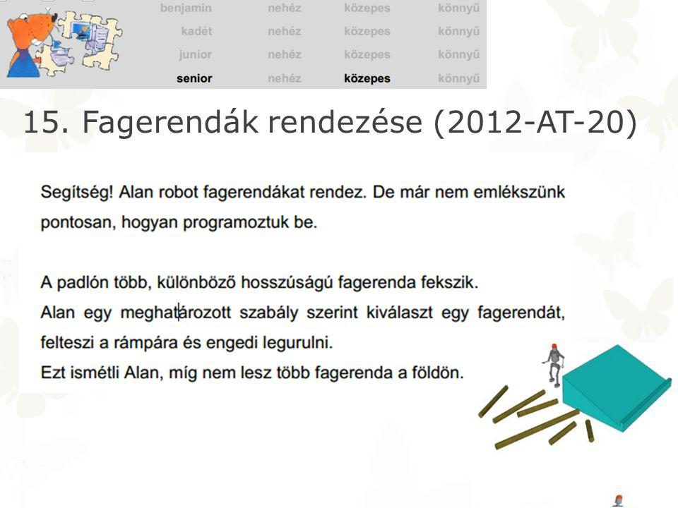 15. Fagerendák rendezése (2012-AT-20)