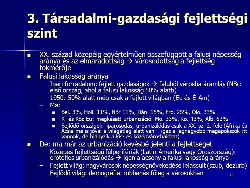 11 3. Társadalmi-gazdasági fejlettségi szint XX.