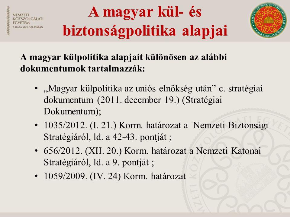 Magyarország külkapcsolati stratégiája Milyen alapvető értékeket vall a Stratégiai Dokumentum.