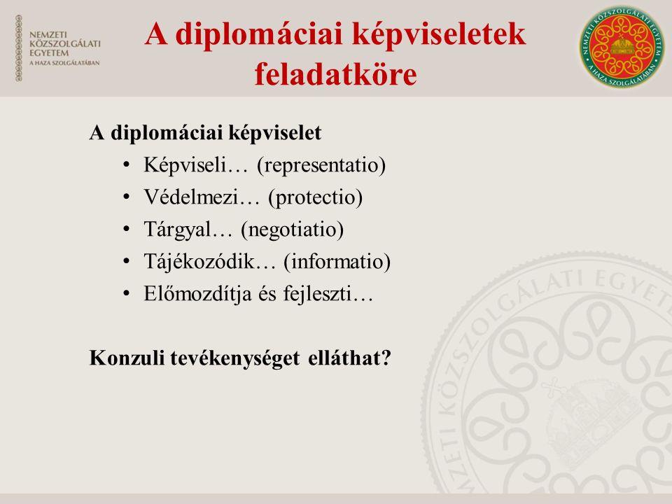 A diplomáciai képviselet személyzete A diplomáciai képviselet vezetője A diplomáciai személyzet -Ki az az első beosztott.