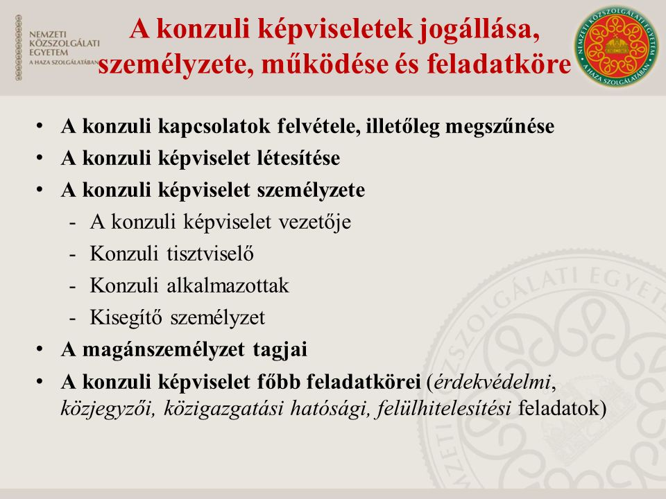 A tiszteletbeli konzuli intézmény Nemzetközi jogi alapja a konzuli kapcsolatokról szóló 1963.