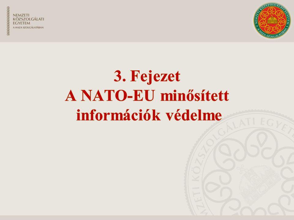 A minősített információk védelméért felelős nemzeti biztonsági szervek Központi szervek nemzeti biztonsági hatóság Nato központi nyilvántartó Eu központi nyilvántartó Helyi szervek biztonsági vezető nyilvántartó kezelő pont/pontok