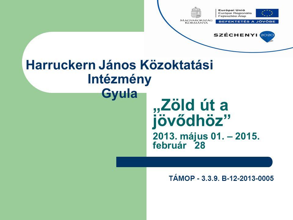 """Harruckern János Közoktatási Intézmény Gyula """"Zöld út a jövődhöz 2013."""