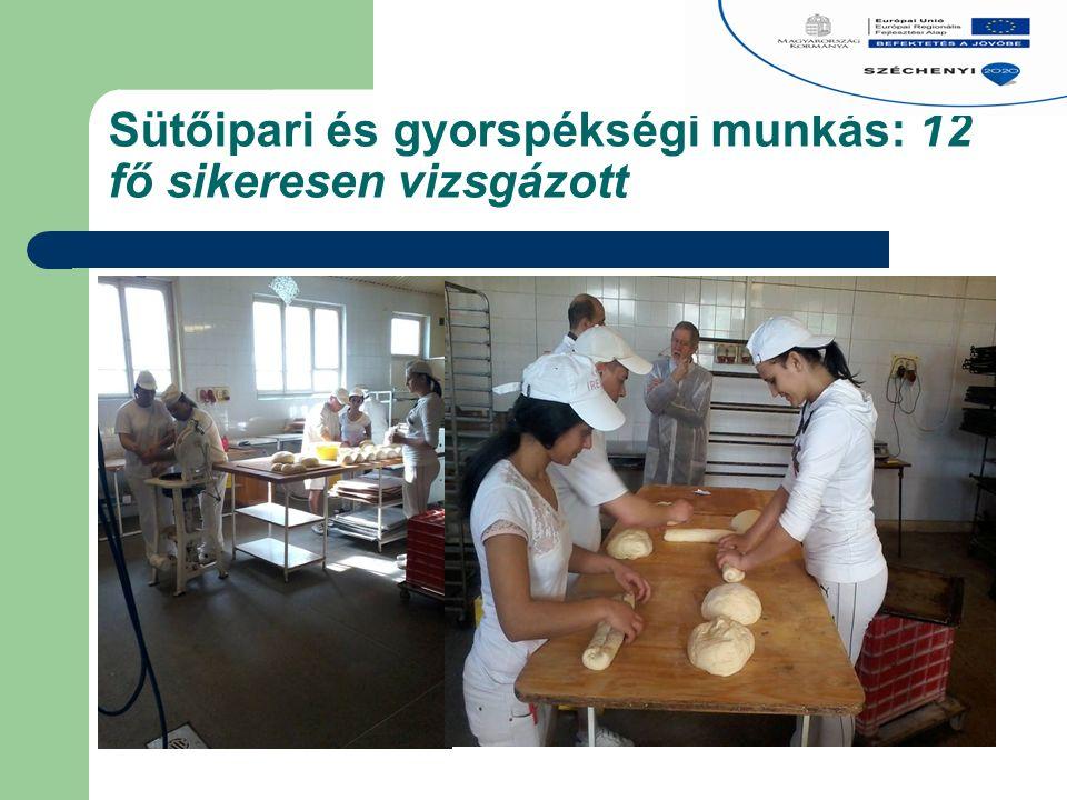 Sütőipari és gyorspékségi munkás: 12 fő sikeresen vizsgázott