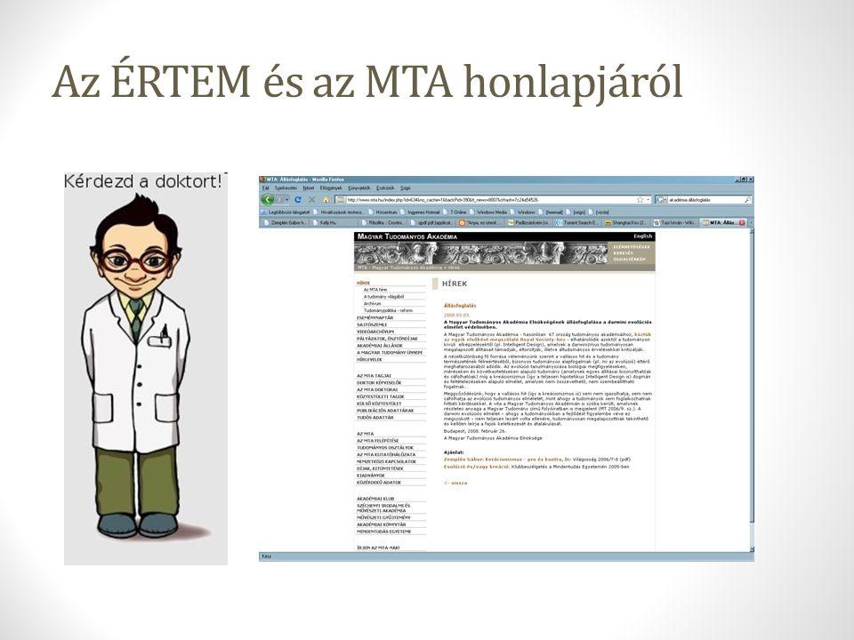 Az ÉRTEM és az MTA honlapjáról
