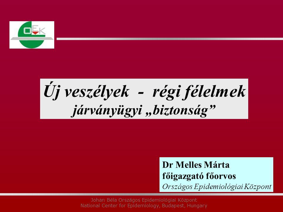 """Johan Béla Országos Epidemiológiai Központ National Center for Epidemiology, Budapest, Hungary Új veszélyek - régi félelmek járványügyi """"biztonság"""" Dr"""