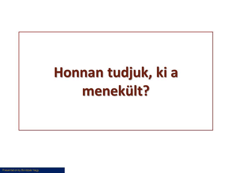 Presentation by Boldizsár Nagy Honnan tudjuk, ki a menekült