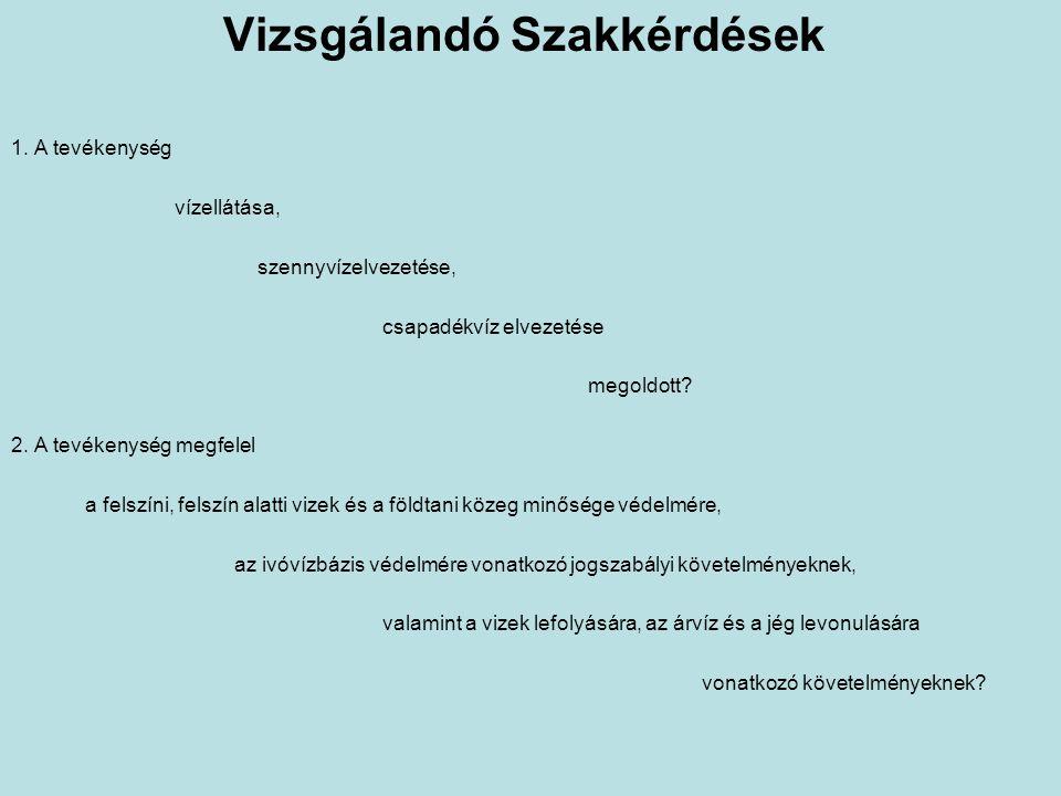 Vizsgálandó Szakkérdések 1.
