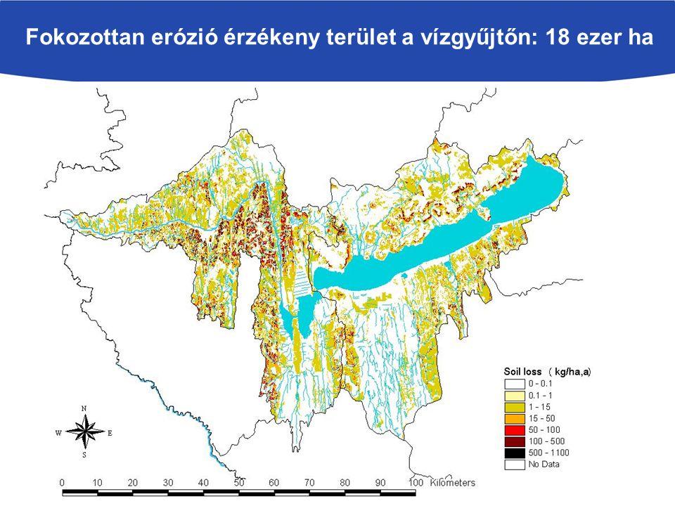 Fokozottan erózió érzékeny terület a vízgyűjtőn: 18 ezer ha