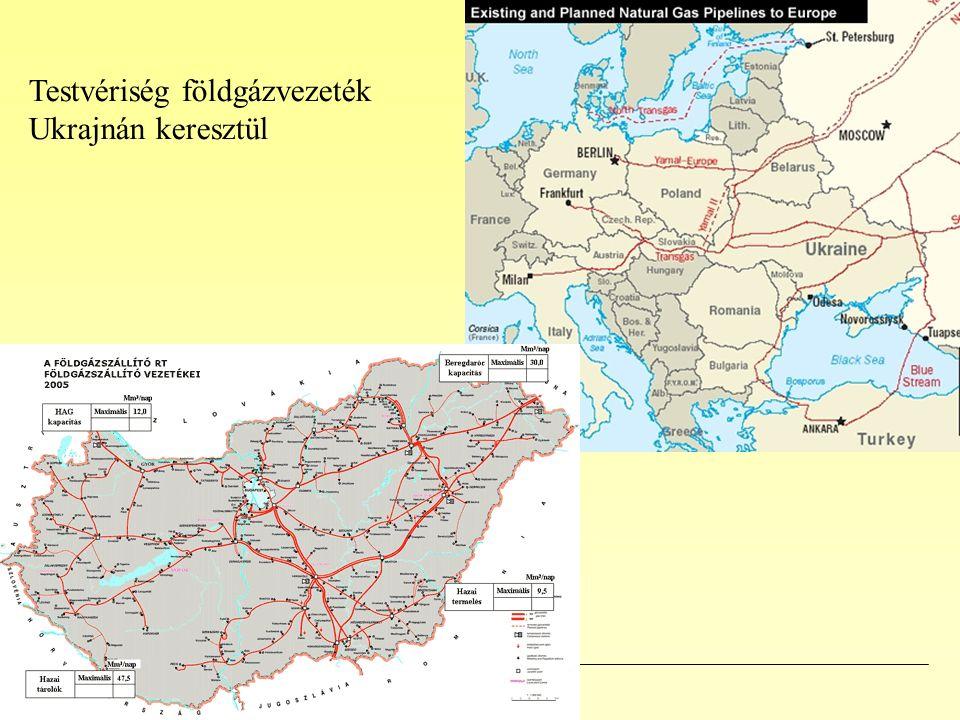 Testvériség földgázvezeték Ukrajnán keresztül