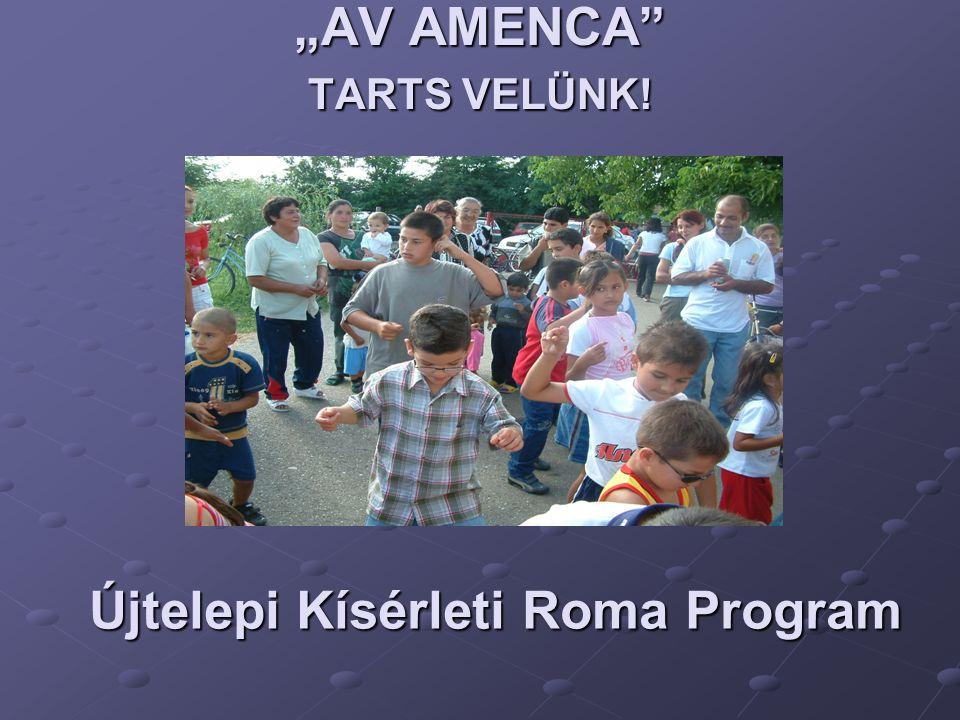 """AV AMENCA"" TARTS VELÜNK! Újtelepi Kísérleti Roma Program"