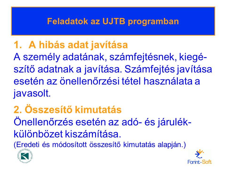 Helyesbítés és önellenőrzés – UJTB 3.