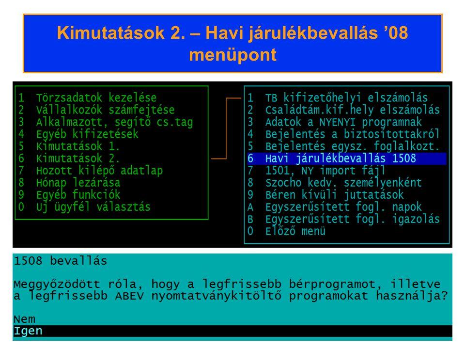 Csak helyesbítés – ÁNYK 2.Állomány beemelése A hozzáadott fájlok listája látható a képernyőn.