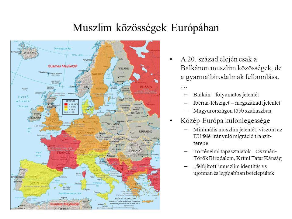 Muszlim közösségek Európában A 20.