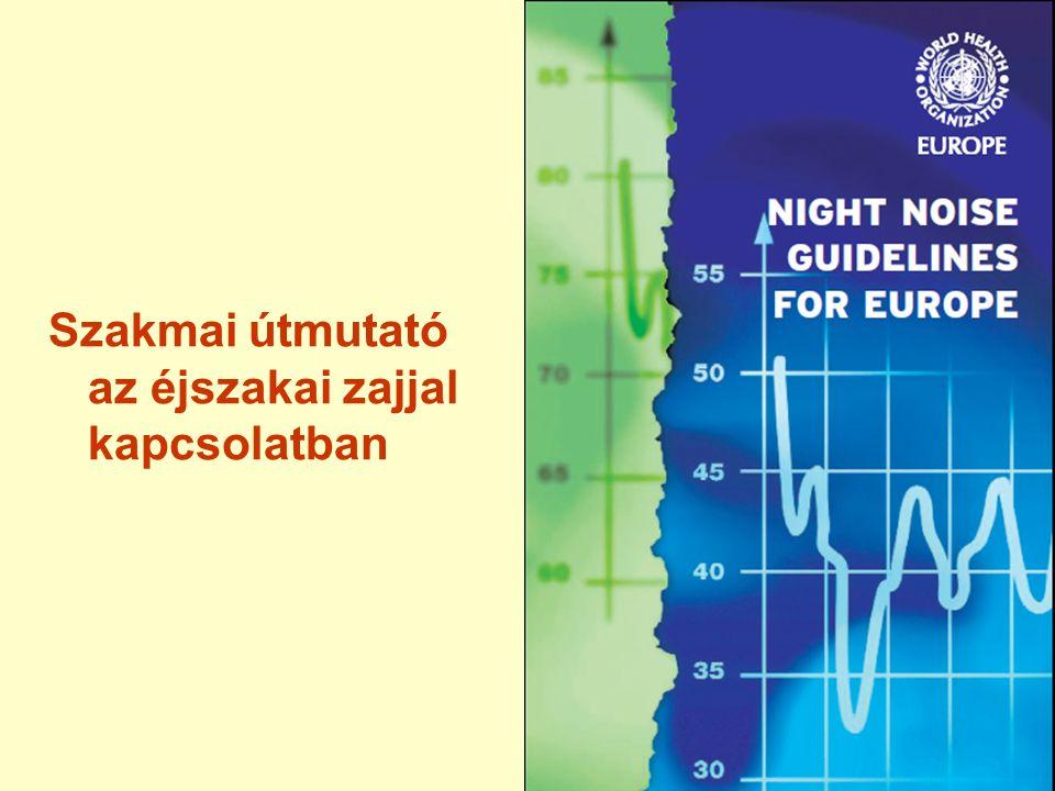 Budapest éjjeli zajforrások, homlokzati terhelés Közút: ZajszintÉrintettek számaÉrintettek aránya 50-54 dB259 600 fő15% 55-59 dB265 800 fő16% 60-64 dB267 300 fő16% 65-69 dB159 600 fő9% 70 dB felett 14 400 fő1%