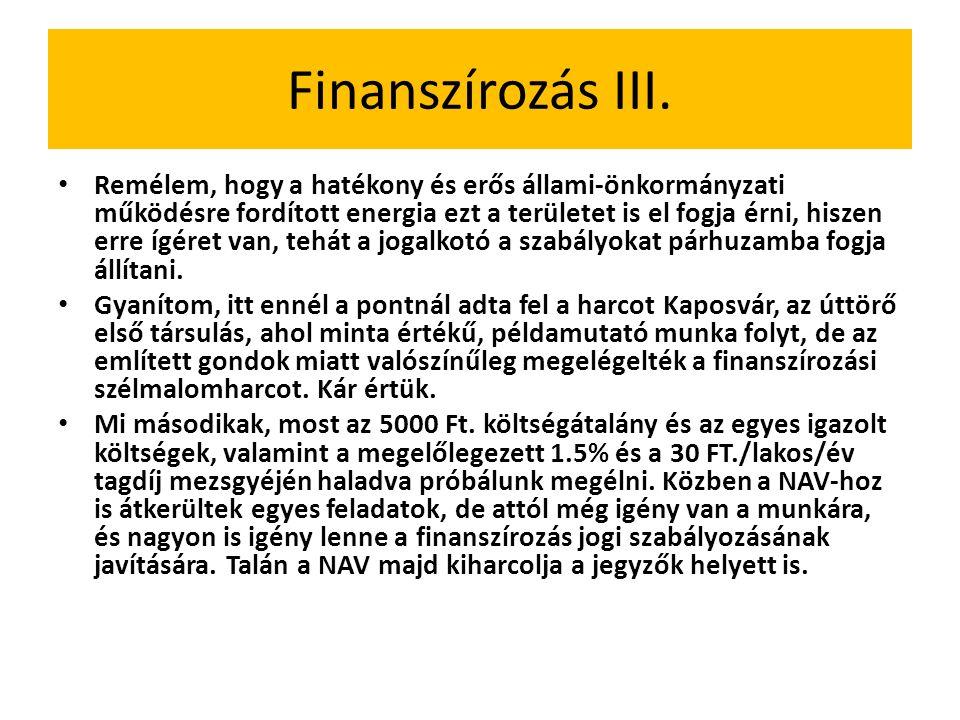 Finanszírozás III.