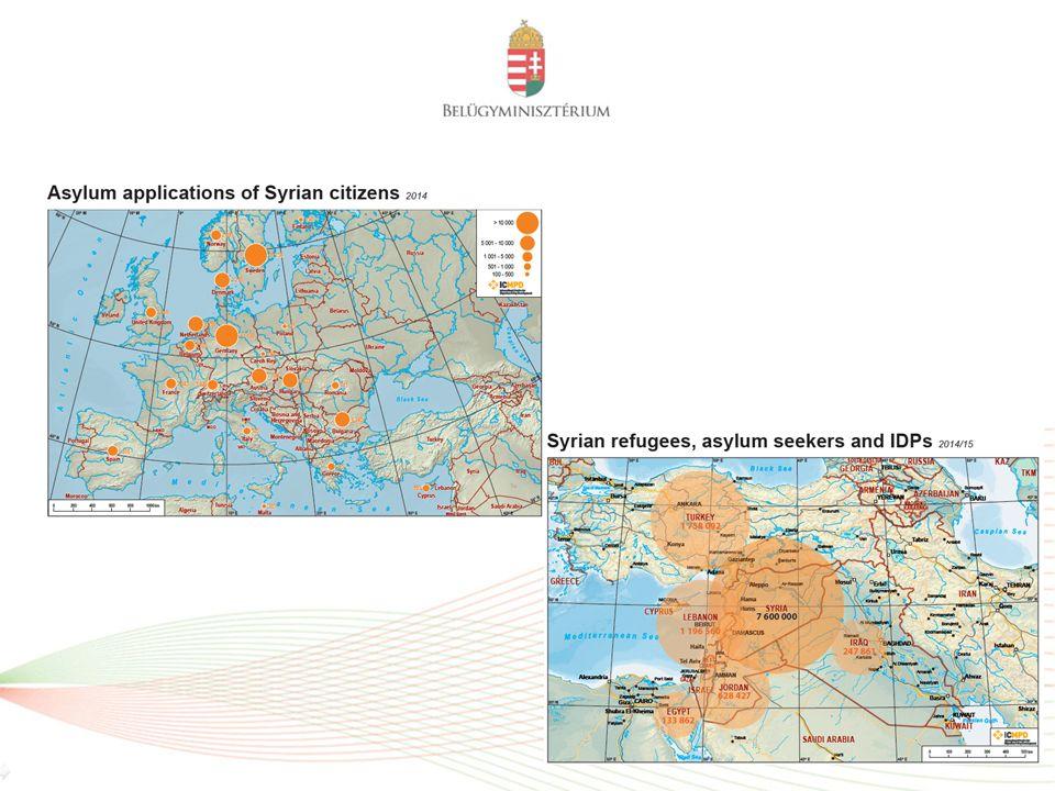 Főbb származási országok 2014-ben az EU-ban