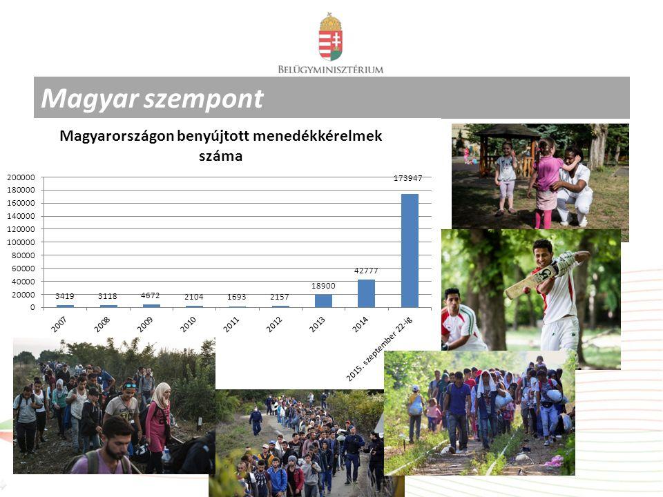A befelé irányuló illegális határátlépések alakulása Magyarország schengeni külső határain A 2010-2014.