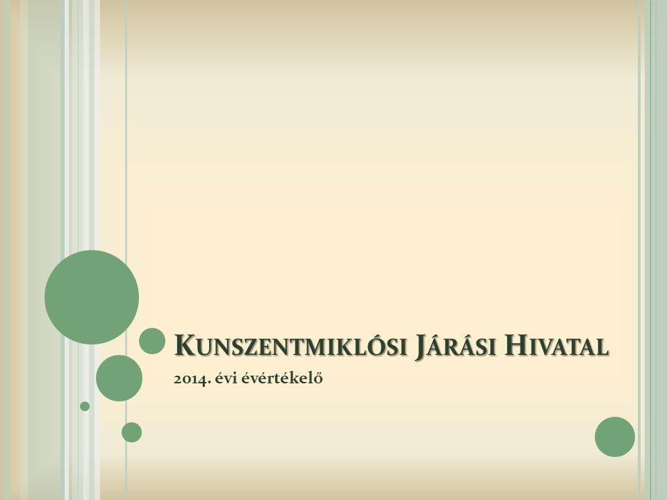 K UNSZENTMIKLÓSI J ÁRÁSI H IVATAL 2014. évi évértékelő