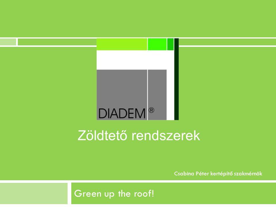Green up the roof! Csabina Péter kertépítő szakmérnök Zöldtető rendszerek