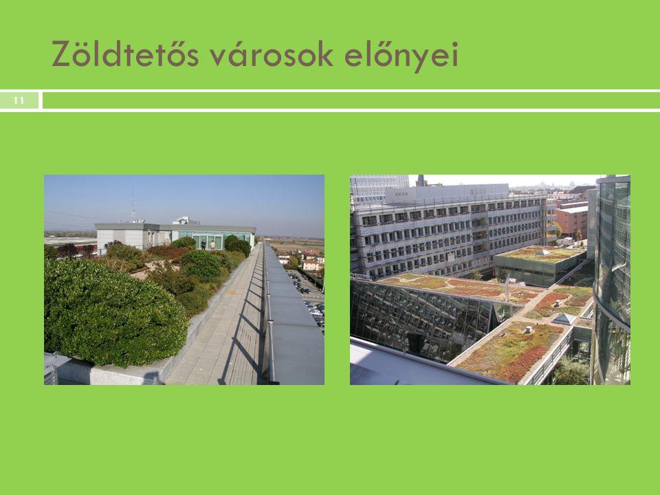 Zöldtetős városok előnyei 11