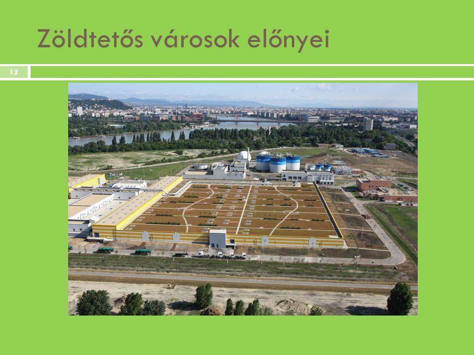 Zöldtetős városok előnyei 12
