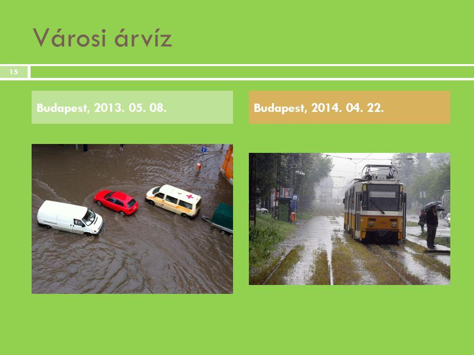 Városi árvíz Budapest, 2013. 05. 08.Budapest, 2014. 04. 22. 15
