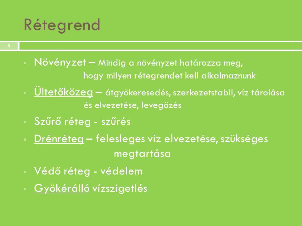 Extenzív zöldtetős rétegrend lefolyóval 4